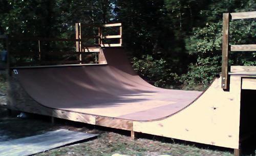 Small Backyard Halfpipe : wide x 38 high halfpipe, Ramp Armor surface  Burgaw ,NC