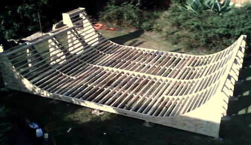 Small Backyard Halfpipe : Framing for above ramp  Raleigh , NC